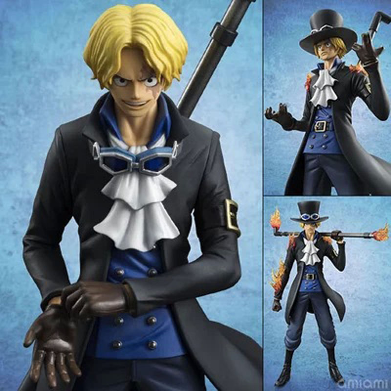 23cm PVC One Piece Sabo Fire Ver Chief of Staff of the Revolutionary Army japanese anime figures for adult Model Collection Toy(China (Mainland))