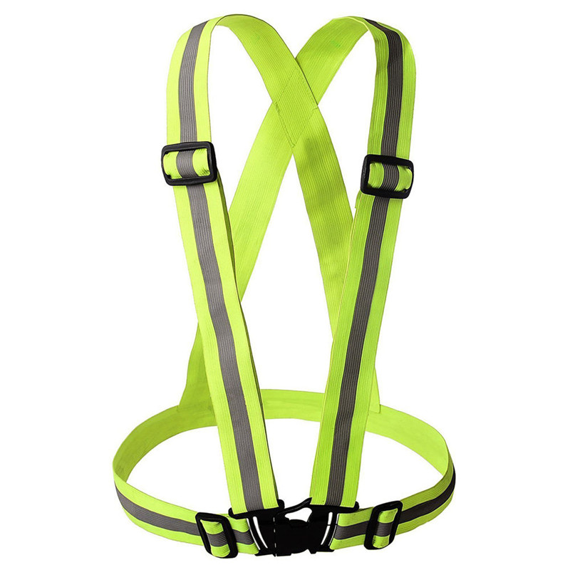 Unisex Safety High Visibility reflection vest Waistcoat Outdoor Running Cycling Vest Harness Reflective Belt Safety Jacket(China (Mainland))