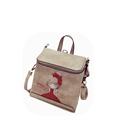 Cute Cartoon Girl Print Backpack Fashion Fresh Style Sweet Small Bag Dual purpose Bag Designer Hand