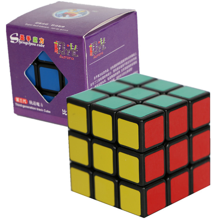 ShengShou Frosted sticker cubes black & white Education toys 3X3X3 third-order cube puzzle cube 5.5*5.5*5.5cm(China (Mainland))