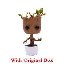 Figura maravilha Homem Árvore Groot Action Figure Dança Groot Guardiões da Galáxia 2 Brinquedos Quentes Primavera Cabeça Decoração Do Carro(China)