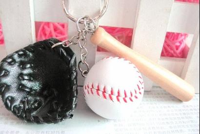 20pcs/lot wholesale glove / baseball Bat / baseball key chain sport ball promotion keychain(China (Mainland))