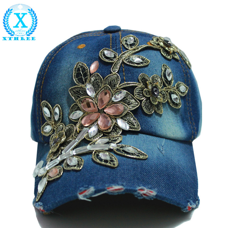 wholesale 2014 fall fashion Denim Baseball cap Sports Hat cap canvas Snapback caps hat for women good quality