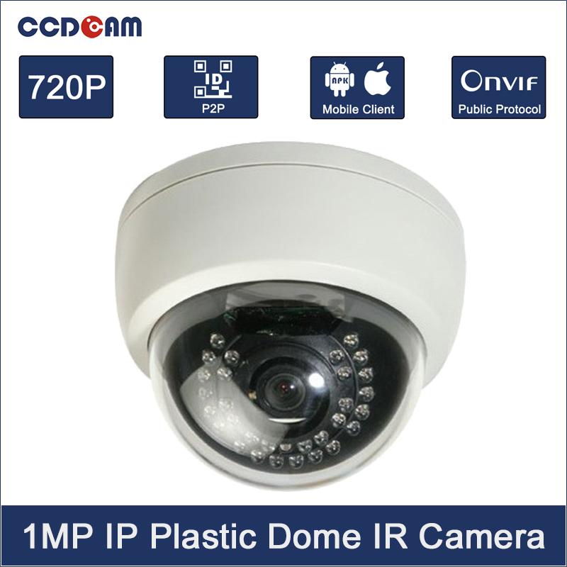 HD 1.0 Megapixels 720P security IR LEDs Dome CCTV IP Camera ONVIF 2.4 indoor Cam Night Vision P2P cloud phone view EC-IP3021(China (Mainland))