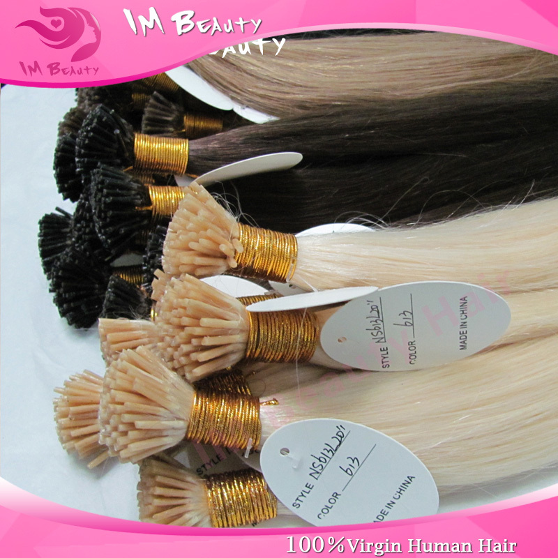 Indian Remy Human Hair pre bonded I-tip Sliky Straight Italian Keratin Human Hair Extensions 8-30inch 1g/piece 100pcs/pack<br><br>Aliexpress