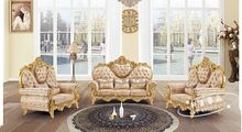 American Antique style living room sofa set in high quality velvet fabric with carving 8521(China (Mainland))