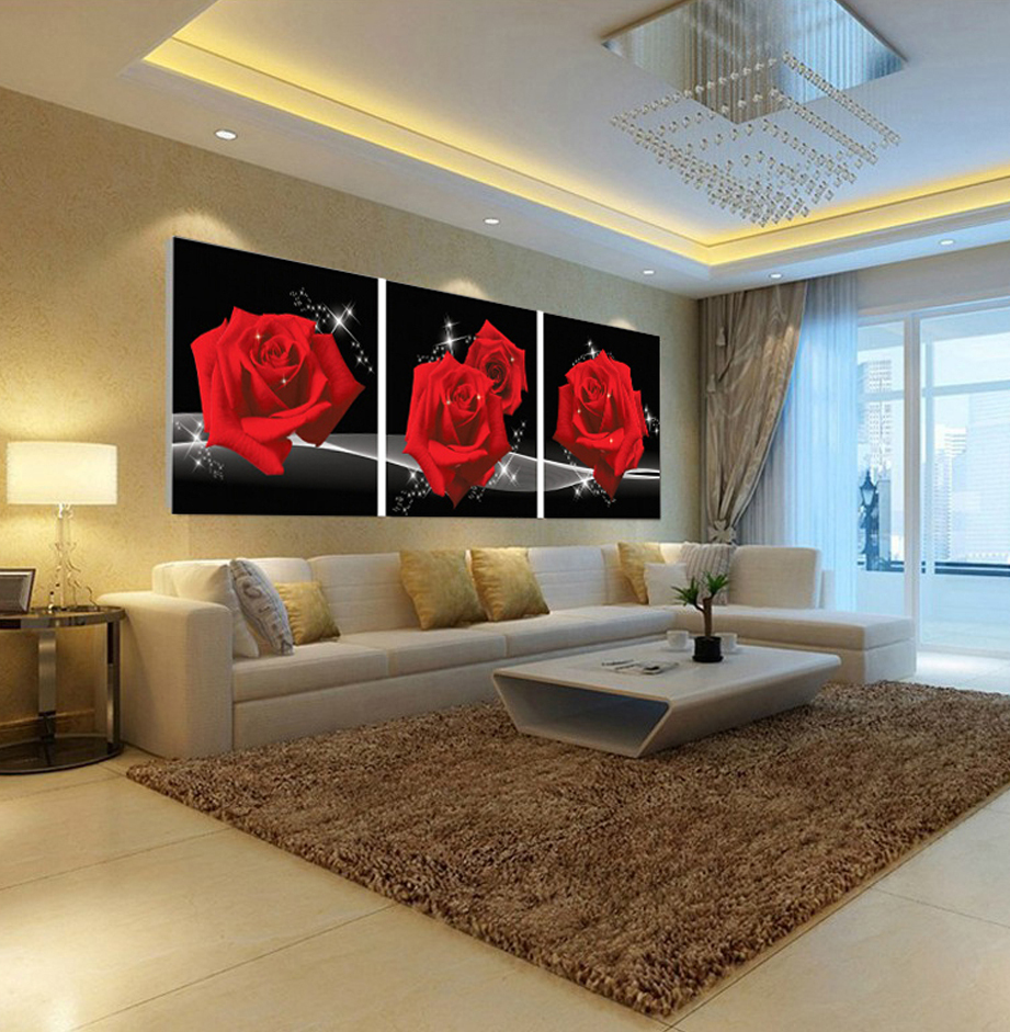 Pinturas de salas de estar fotos v rias - Pinturas modernas para sala ...