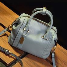 2016 New Leather Women Handbag Boston Casual Tote Bag One Shoulder Messenger Hobo Designer Bag Purse Hot Sale