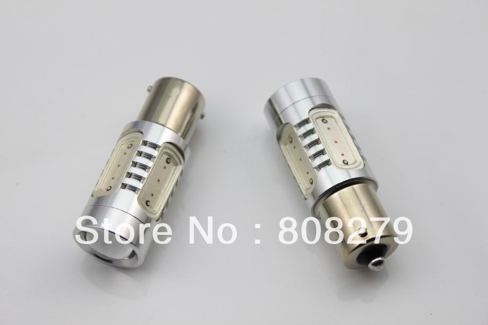 2pcs/Pair Bau15s 581 PY21W  High Power Car Turn Signal Bulb 7.5W Yellow