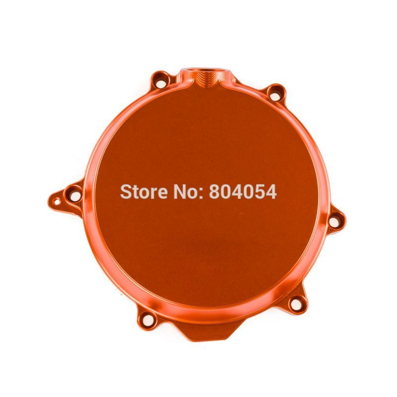 CNC Billet Engine Clutch Cover Outside For KTM 250 XC-F 2008 2009 2010 2011 2012 Orange