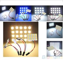 9 / 12 / 15 / 20 / 24 / 48 LED 5050 SMD Car Interior Reading Doom Light Panel T10 Festoon BA9S Adapter Replacement Parts