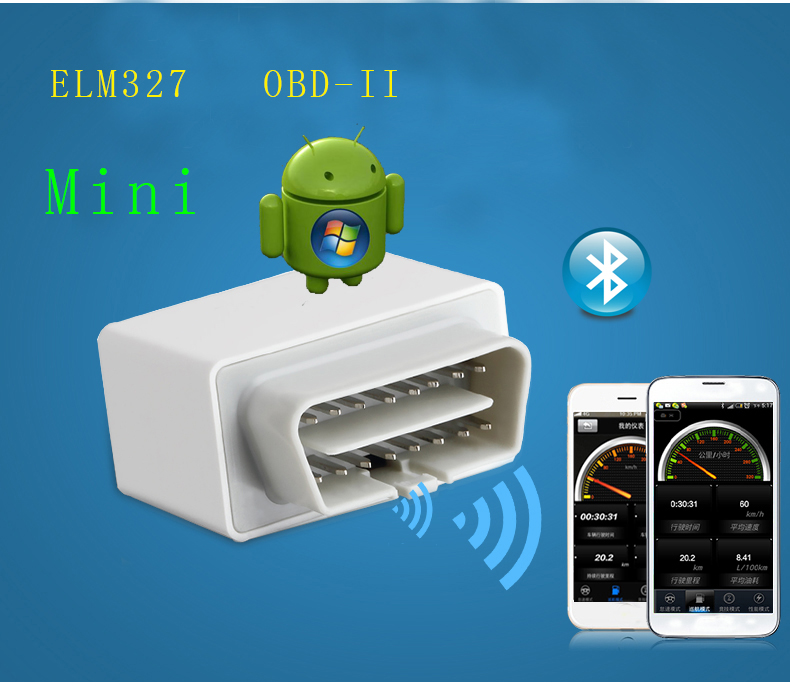 Car Auto Interface Scanner Mini ELM327 OBD2 Wireless Bluetooth Diagnostic Tool Big Compatible smart scan tools YA051-SZ+(China (Mainland))