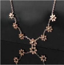 Titanium Steel 7 pcs daisy brand wedding eangagement jewelry set for women SET254(China (Mainland))