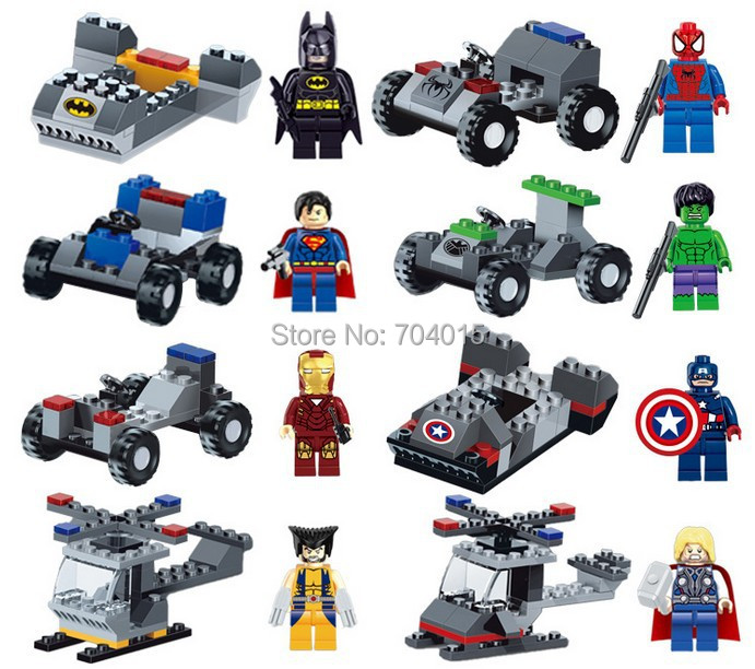 Marvel DC Lot 16 Set Building Toy Action Mini Figure Super Heroes Vehicle Kids Gift Compatible Lego - Best Service Store A1 store