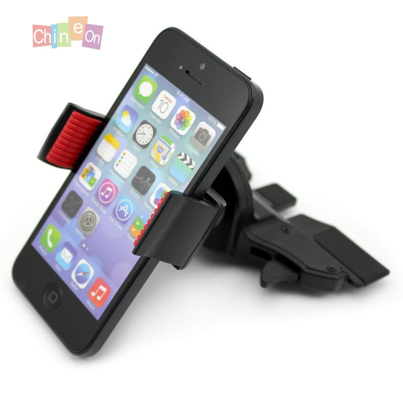 Portable Car CD Slot Phone Mount Stretchable Clip Stand Holder For iPhone for Samsung GPS(China (Mainland))