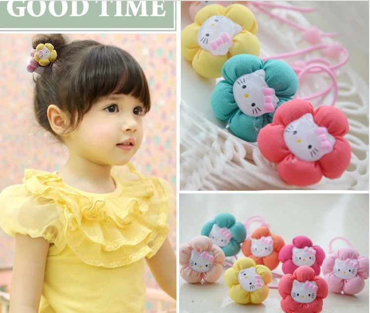 Wholesale hello kitty hairband for girl kids/ baby hair accessories child headband clip children hair accessory,10 pcs/lot(China (Mainland))