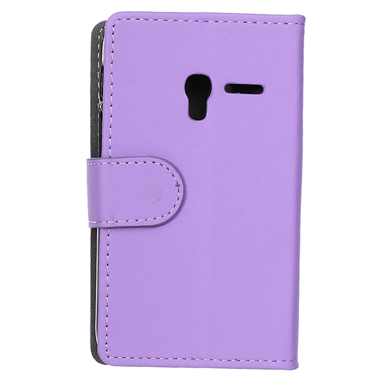 30 pcs/lot Plain weave style Phone Cover Stand Card Holder Wallet Leather case Alcatel PIXI3 4.0 - yulkun lu's store