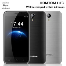 Newest HOMTOM HT3 Cellphone 5.0 inch IPS HD MTK6580 Quad Core 1GB RAM 8GB ROM Android 5.1 8MP GPS Dual Sim WCDMA 3G Smartphone