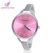2015 New Bracelet Watch Women Fashion Big Dial Steel Watch Band Luxury Ladies Watch