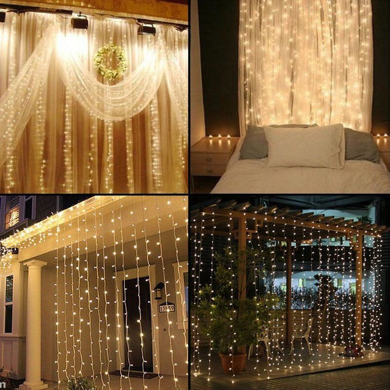 Twinkle Star 453m 300 Led Window Curtain String Light For Wedding