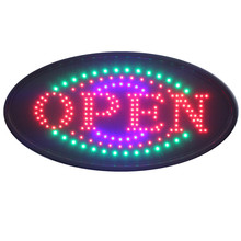 BMLEDSigns 19x10 bright neon Open led sign animation + switch on/off + chain oval shape(China (Mainland))
