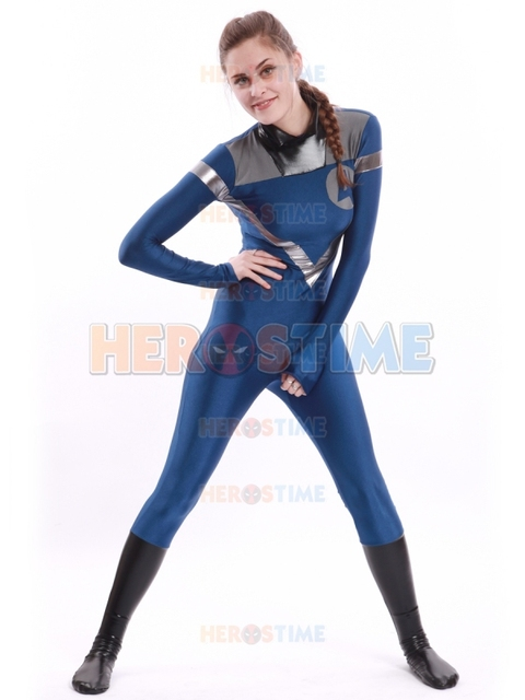 Lycra spandex Fantastic Four Costume Invisible Woman ...