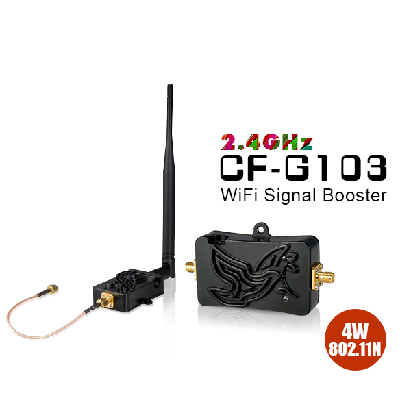 4W Wireless Broadband Amplifiers Wifi Signal Extender 2.4GHz Repeater WiFi Signal Booster Adapter CF-G103 wt3020f Router(China (Mainland))