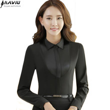Buy Fashion new Slim career black white shirt women long-sleeve Slim chiffon shirt OL formal business office ladies plus size tops ) for $13.27 in AliExpress store