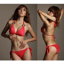 2015 Rushed Sale Solid Push Up Bikini Biquinis Women Bikini Sexy Swimsuit Fashion Jane You Still Meiju Chest Spot Europe Code