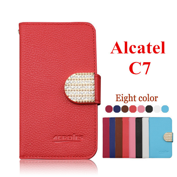 Phone Case Alcatel One Touch POP C7 OT 7041D 7040D Shell diamond magnet buckle - NO.1 store
