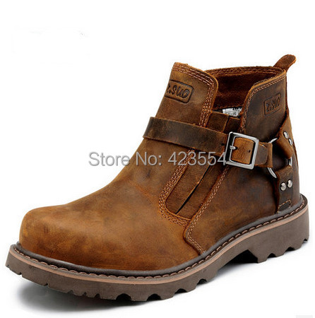Top Quality genuine leather boots men breathable fashion moccasins ankle boots casual men leather shoes(China (Mainland))