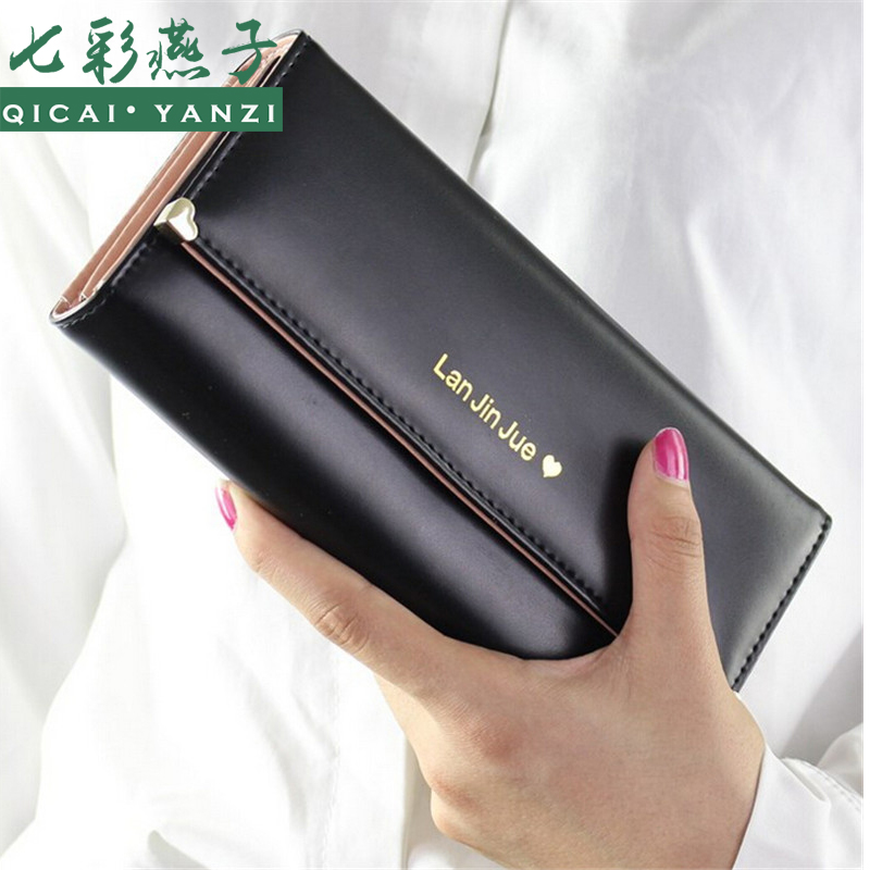 2016 Quality Guarantee Women Fashion Long Wallet Handbags Ladies Wallet Leather Bag Popular Purse Card Holder Free Shipping N682(China (Mainland))
