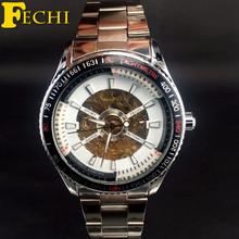 FECHI Mens Watches Top Brand Luxury Luminous Mechanical Hand-wind Analog Skeleton Wristwatches Business Relogio Masculino FE029C
