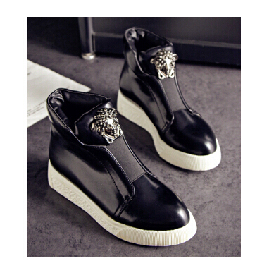 Мода старший бархат мартин сапоги сплошной цвет , плоским ботильоны свободного покроя высокого верха обуви