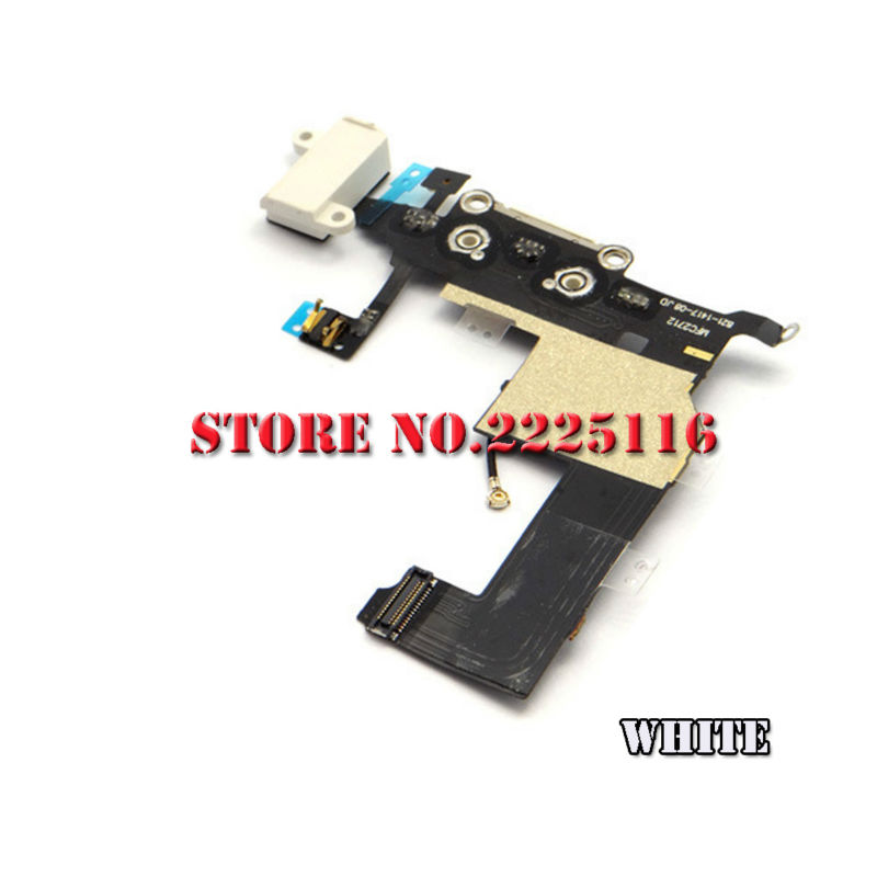 (50 pcs/lot) New charger charging port dock usb data connector flex cable ribbon for iphone 5 5g headphone mic antenna part(China (Mainland))