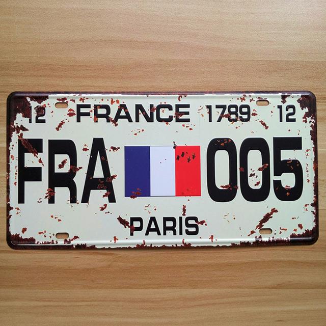 retro license number carplates fra 005 france paris flag selges av easy sale fra geneva p. Black Bedroom Furniture Sets. Home Design Ideas