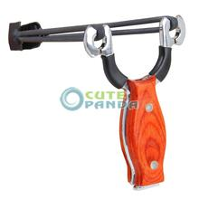 AXE Pro Wood Handle Stainless Steel Slingshot Outdoor Hunting Catapult Tomahawk