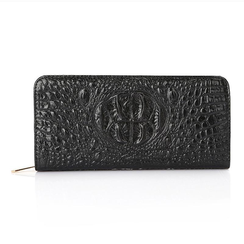 Newest crocodile pattern women wallets pu leather women's wallet fashion long coin purse ladies/men clutch money bag(China (Mainland))