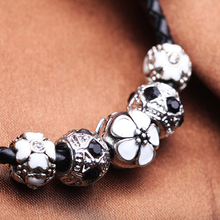 NEW FASHION 925 Silver Charm Fit Pandora Bracelet Leather for Women Fashion Imitation Jewelry PS3165