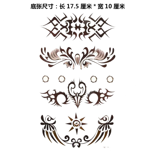 Mix order lower back waterproof 10 pcs lot body art fake for Removal of temporary tattoos