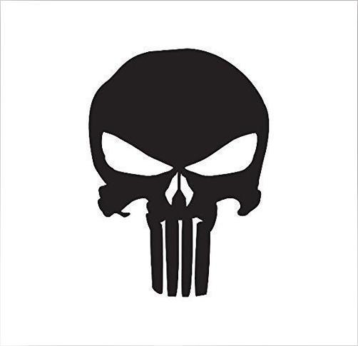 2016 new pattern Punisher Skull Decal(China (Mainland))