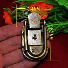 62 * 34MM antique wooden box lock buckle gift box packaging decorative iron buckle locking hasp lock(China (Mainland))