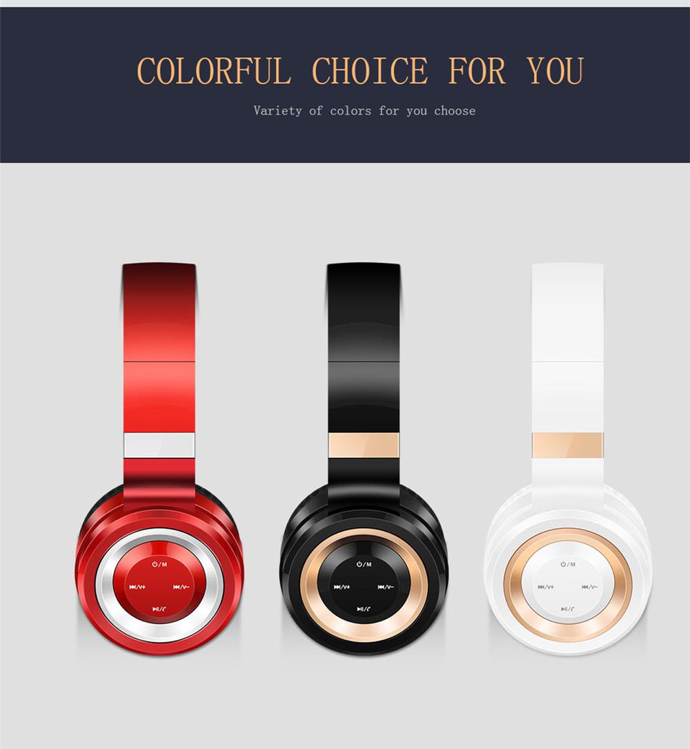 ถูก เสียงแหล่P6หูฟังบลูทูธหูฟังบลูทูธ4.0หูฟังที่มีไมโครโฟนสนับสนุนบัตรTF MP3โทรศัพท์มือถือแล็ปท็อป
