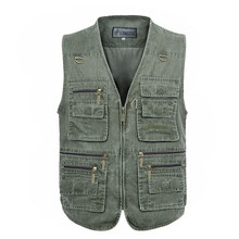 XL-7XL Multi Function Vests High Quality Casual Big Size Outdoor Men Hunting Vest(China (Mainland))