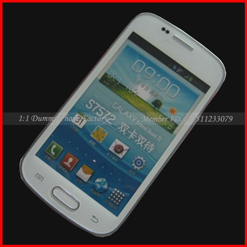 For Samsung Galaxy Trend II Duos Dummy Phone S7572 Non-working Fake Display Cell Phone Black And Other New Model Available(China (Mainland))