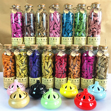 Natural cork glass bottles mounted tower incense cone incense (about 95 pieces a bottle, free shipping and sent a censer)(China (Mainland))