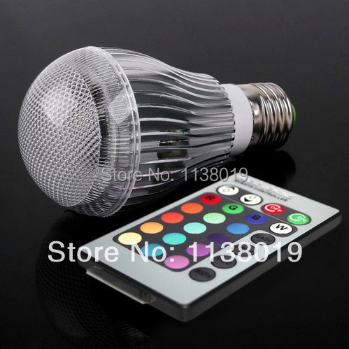 16 Colors Changing 9W magic E27 RGB LED Lamp Light Bulb + IR Remote Control(China (Mainland))