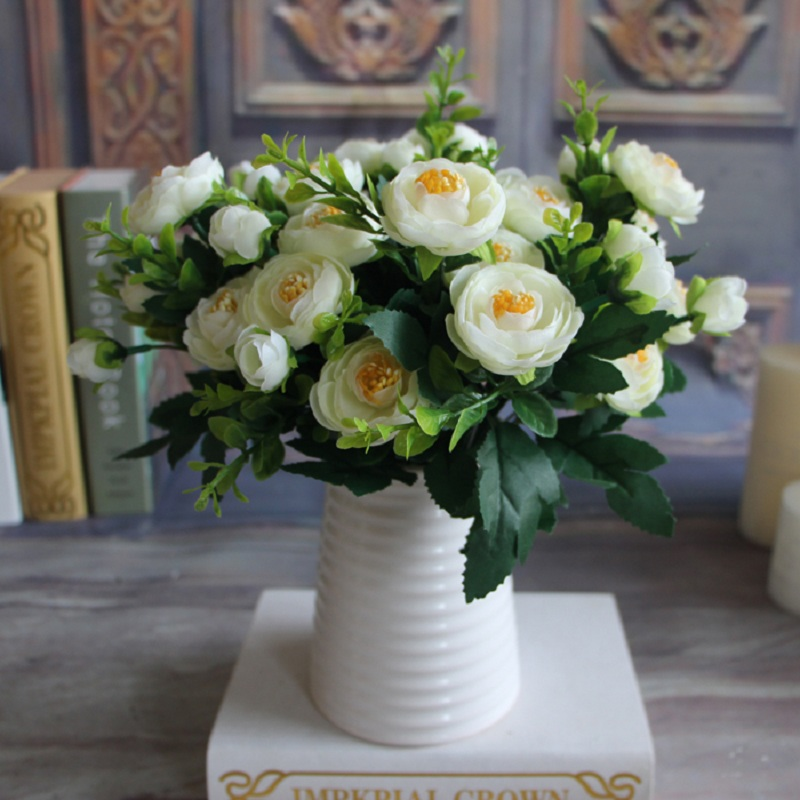 New Multi Color Realistic Spring Artificial Fake Peony Flower Arrangement Home Table Room Hydrangea Decor