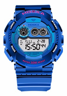 Мода Hot HOSKA Мужчины Часы 50 м Водонепроницаемый СВЕТОДИОДНЫЙ Спорт Военная Часы Шок мужская Аналоговые Кварцевые Цифровые Часы relógio masculino