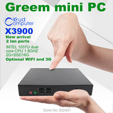 X3900 2GB RAM and 16G SSD Network Cloud Terminals Mini PC Station Thin Client Computer Sharing 1037U dual core CPU 1.8GHZ(China (Mainland))